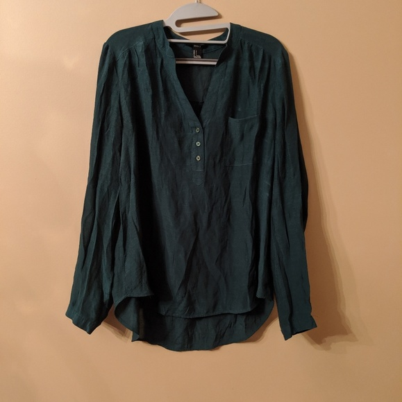 Forever 21 Tops - Forest Green Button Down